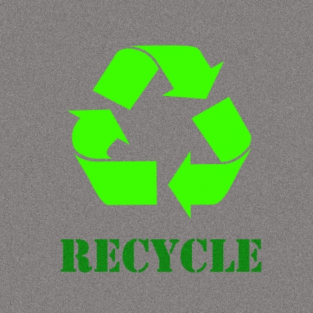 Recycle Symbol, Isolated On Gray Background, Vector Illustration