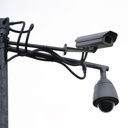 Two security surveillance cameras Stock Photo - 16980420