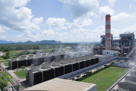 mechanical ventilation: Cooling tower of power plant