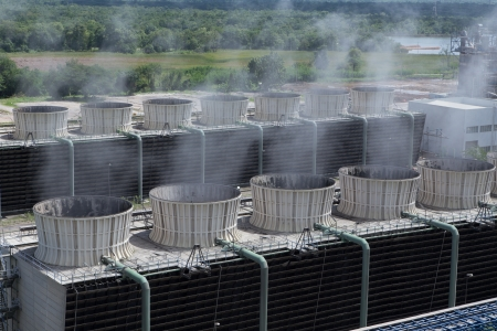 Cooling tower of power plant  photo