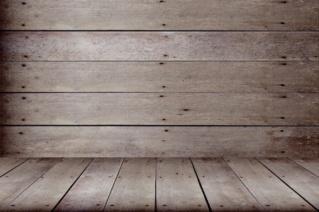 background wood: Old wooden floors and walls