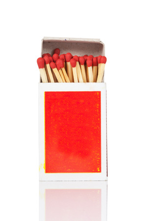 unlit: Matches on a white background Stock Photo