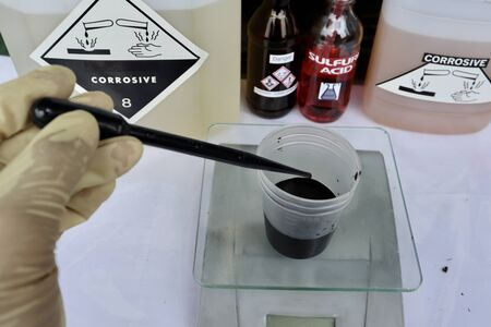 simulation chemical test in laboratory