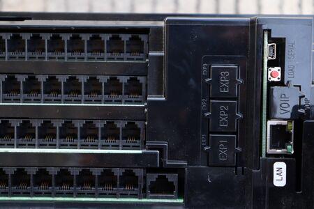 black Port LAN For network connection