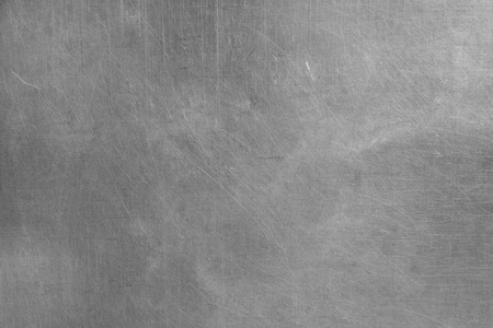 metal plate: Brushed silver metallic background Stock Photo