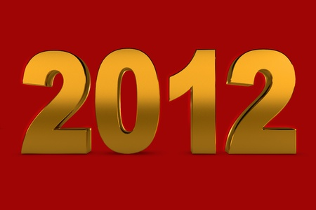 NEW YEAR 2012 on a red background photo