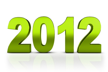 next year: NEW YEAR 2012 on a white background  Stock Photo