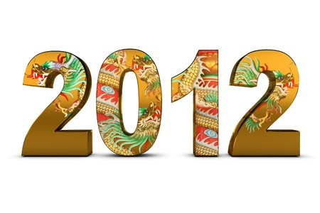 NEW YEAR 2012 and dragon tattoo photo