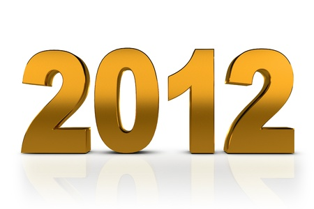NEW YEAR 2012 on a white background  photo