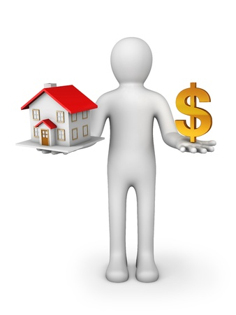 house prices: House And Dollar Sign Stock Photo