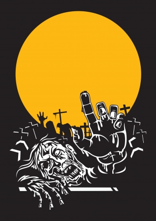 Halloween zombie night photo