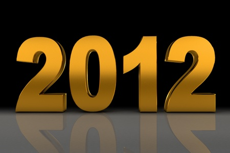 NEW YEAR 2012 on a black background Stock Photo - 11041074