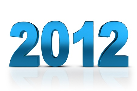 NEW YEAR 2012 on a white background Stock Photo - 11041073
