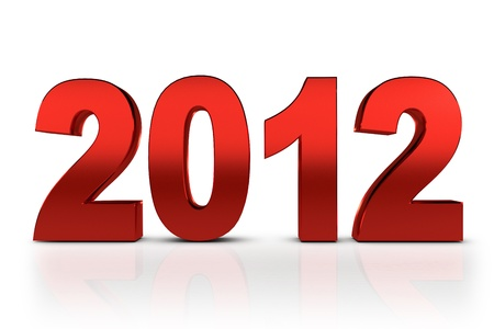NEW YEAR 2012 on a white background   Stock Photo - 11041072