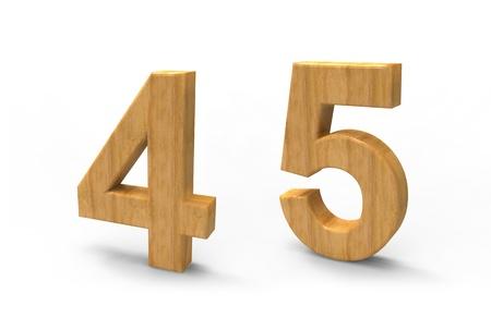 wood font isolated on white background photo