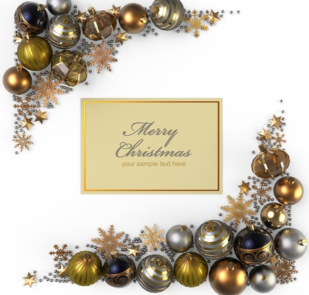 silver christmas: Christmas decoration from color bubbles Stock Photo