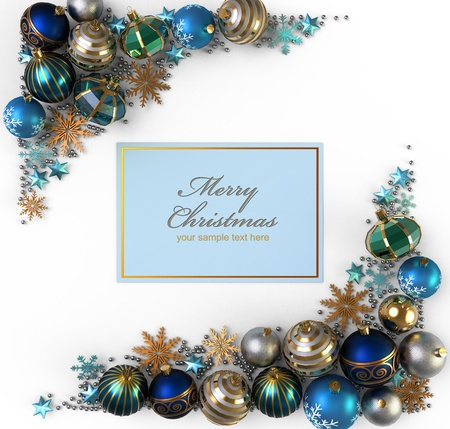 Christmas decoration from color bubbles Imagens