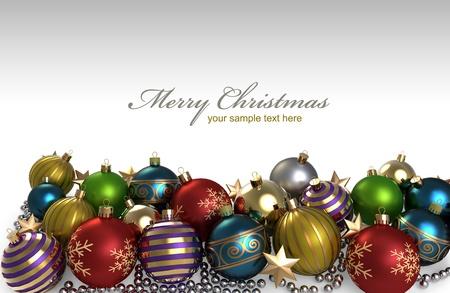 esfera: Decoración de Navidad corona de burbujas de colores Foto de archivo