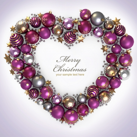 Christmas wreath decoration from color bubbles Stock Photo - 11375636