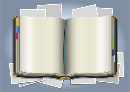 book and photo Vector