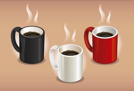 red smoke: coffee cup set