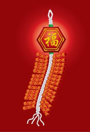 crackers: Petardos chinos para la celebración del año nuevo chino