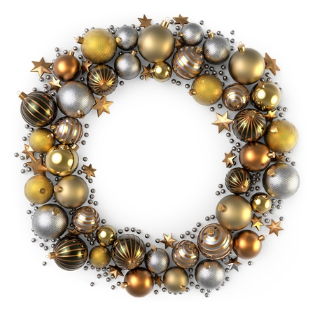 Christmas wreath decoration from color bubbles photo