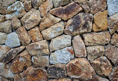 paredes de ladrillos: muro de piedra Foto de archivo