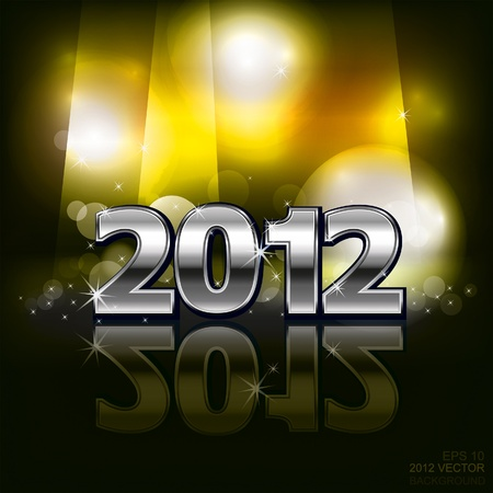 2012 in dark background. Vector  Vector