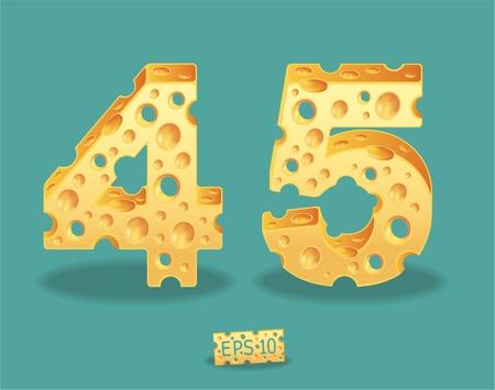 Vector of Cheese Alphabet Stock Vector - 11813576