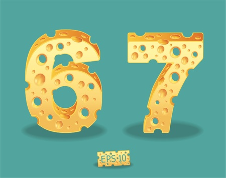 typeset: Vector of Cheese Alphabet Illustration