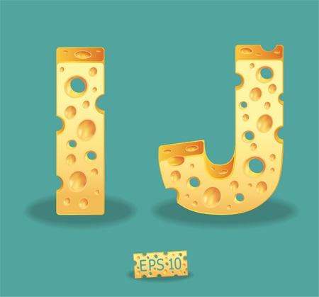 Vector of Cheese Alphabet Stock Vector - 11813570