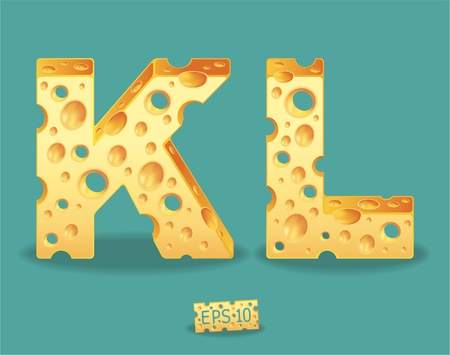 Vector of Cheese Alphabet Stock Vector - 11813578