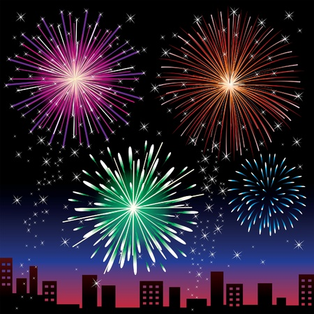 Fireworks night Vector