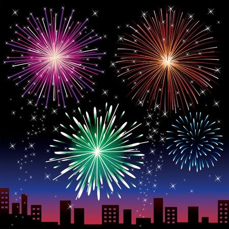 happy newyear: Fireworks night