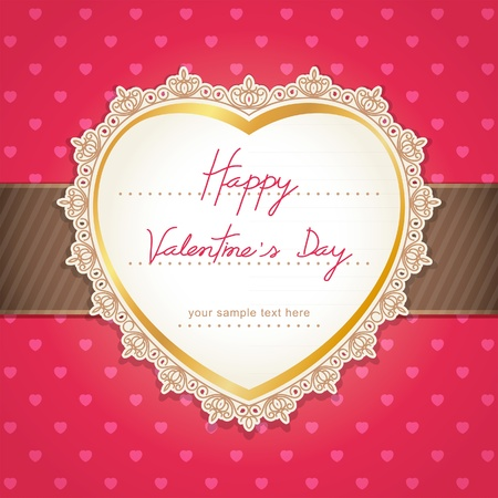 greeting card invitation wallpaper: Valentine Illustration