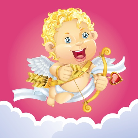 heart and wings: Cupid