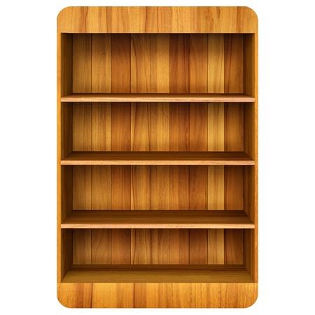 mensole: 3d in legno libro sfondo Shelf