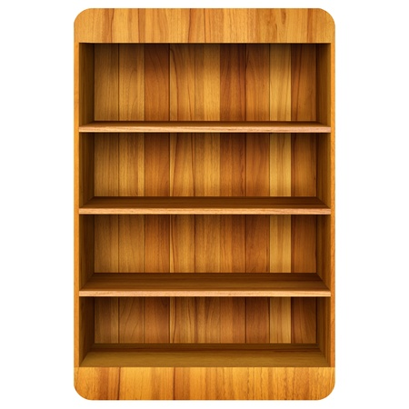 3d Wooden book Shelf background Stock Photo - 12801600