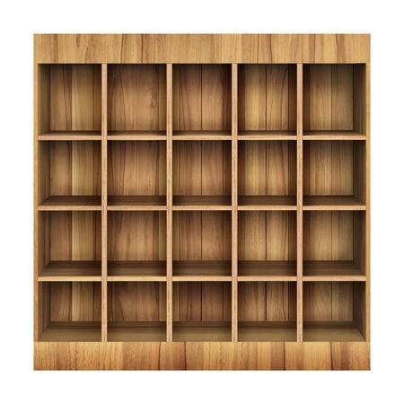 3d Wooden book Shelf photo