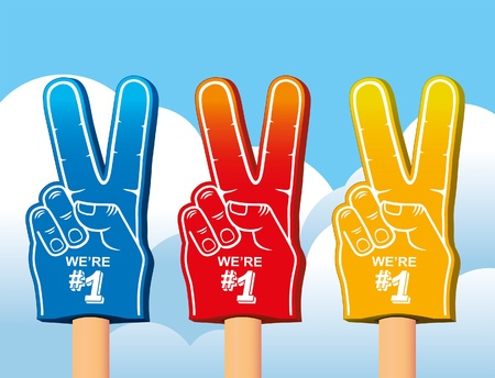 color set of foam hand  Stock Vector - 12801517