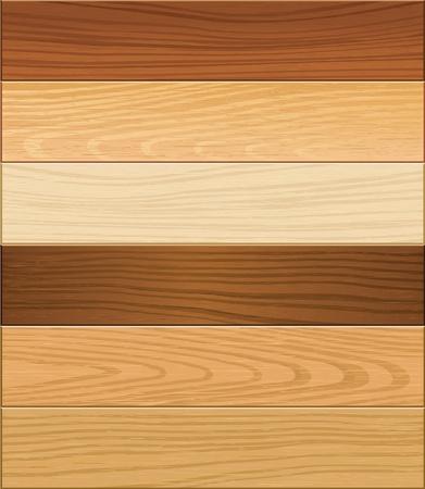 적층: 나무 마루 벡터 일러스트