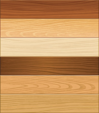 pannello legno: Parquet in legno illustratore vettoriale Vettoriali