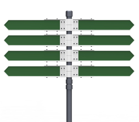 multidirectional: Blank direction sign with 8 arrows