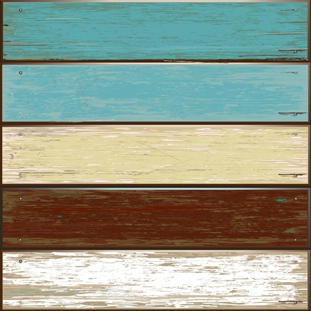 Old color wooden texture background  vector illustrator Stock Vector - 13271890