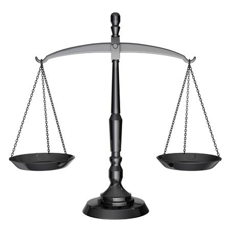 balance de la justice: �cailles noires de la justice isol� sur fond blanc Banque d'images