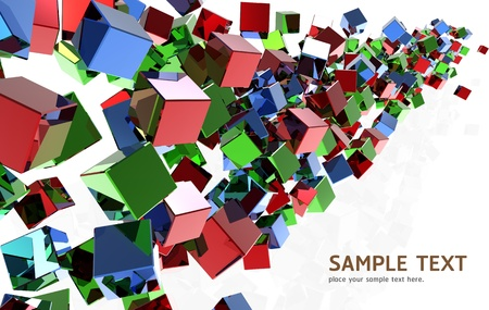 Abstract Crystal cubes background design  photo