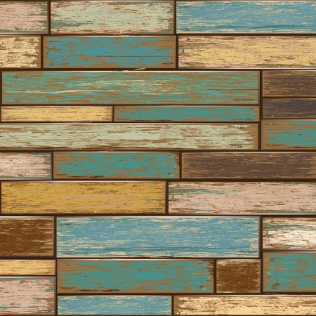 weathered: Old color wooden texture background  vector illustrator
