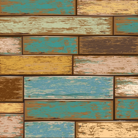parquet floor: Old color wooden texture background  vector illustrator
