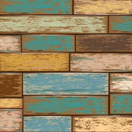 Oude kleur houten textuur achtergrond vector illustrator